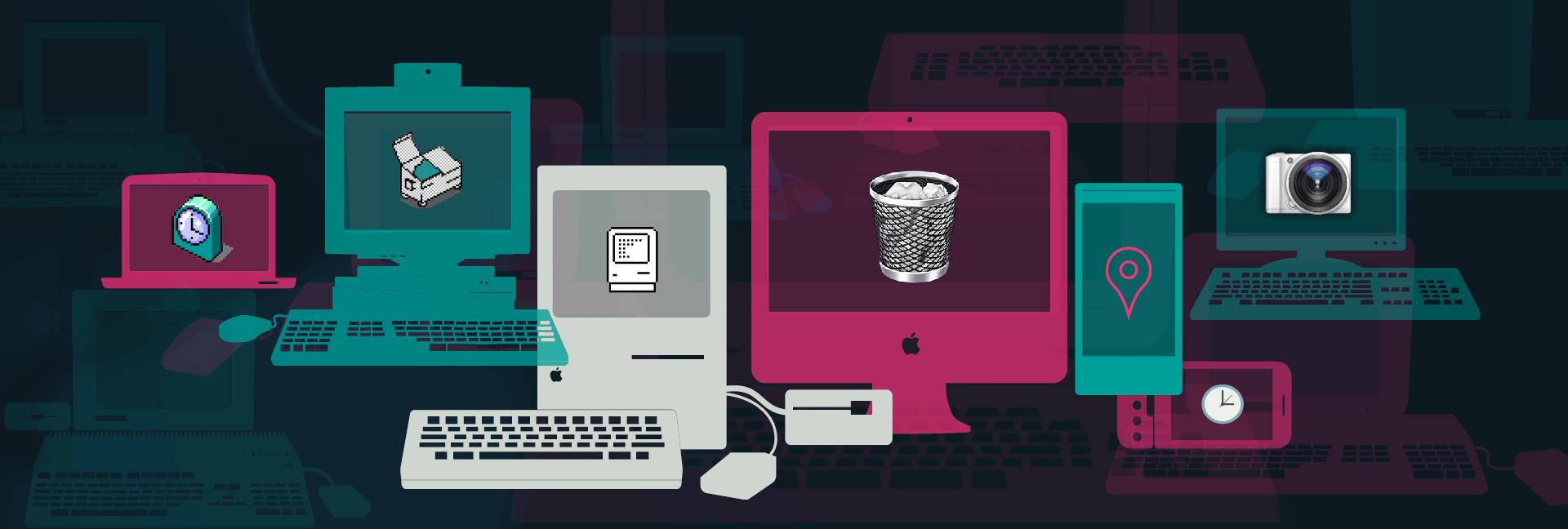 Visual history of computer icons