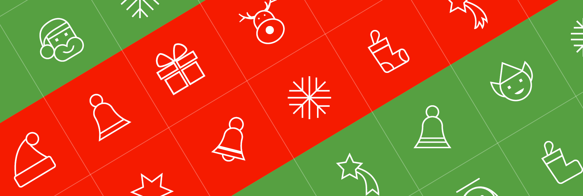 Christmas icons for last-minute designs