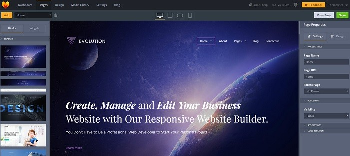 main create website