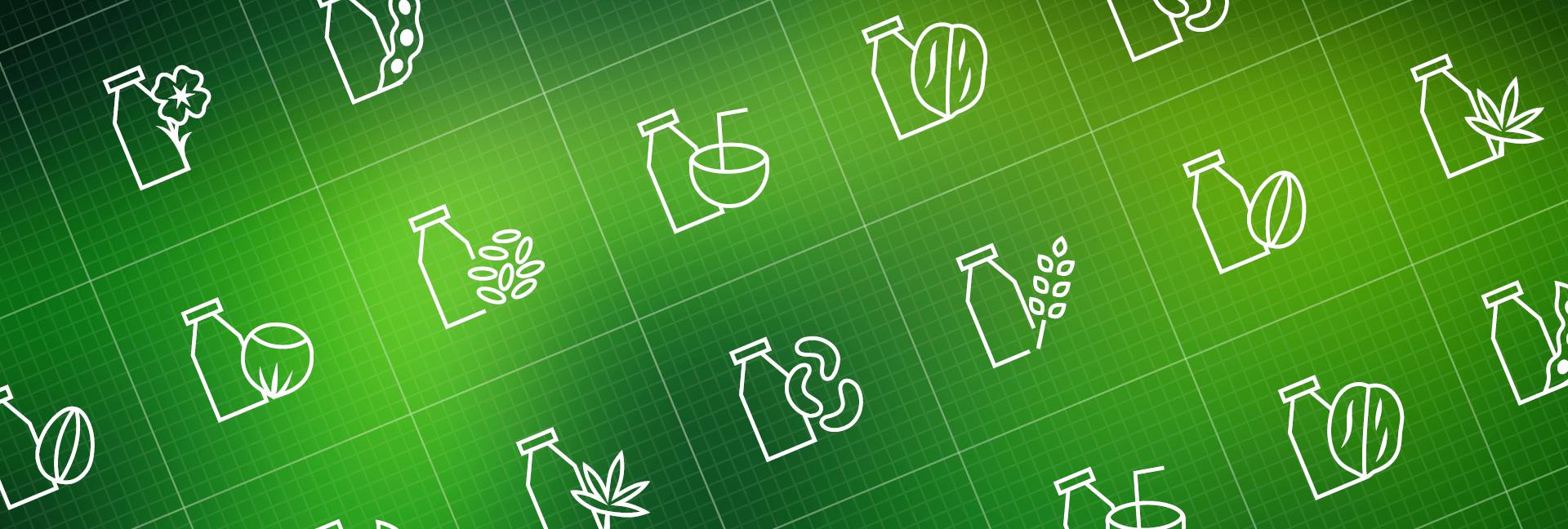 Vegan milk icons – new icons delivery!
