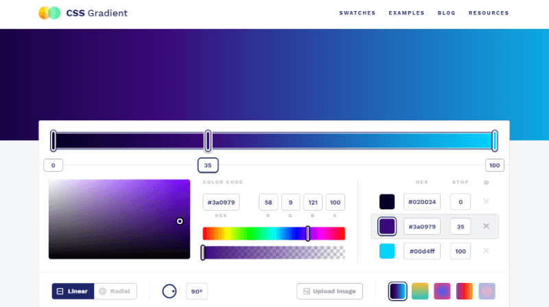 css gradient color-related apps