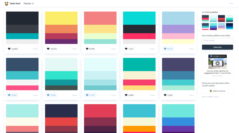 colorhunt color-related apps