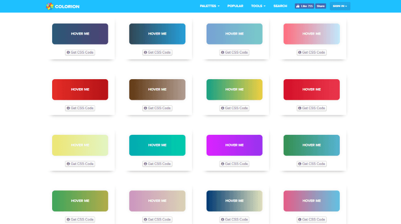 gradient buttons color-related apps