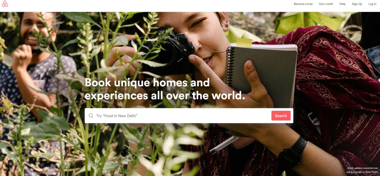 airbnb website in 2018 redesign example