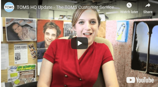 TOMS HQ Update - The TOMS Customer Service Team