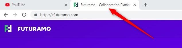 Title Tag in Browser Tag - Futuramo